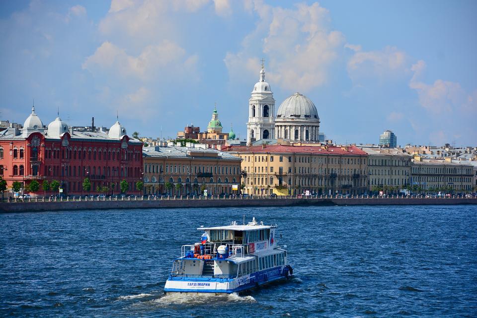 Boat in Saint Petersburg, Russia