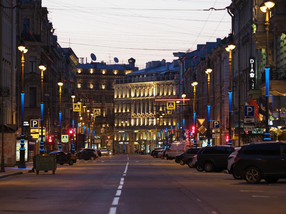 Nightscape in Saint Petersburg