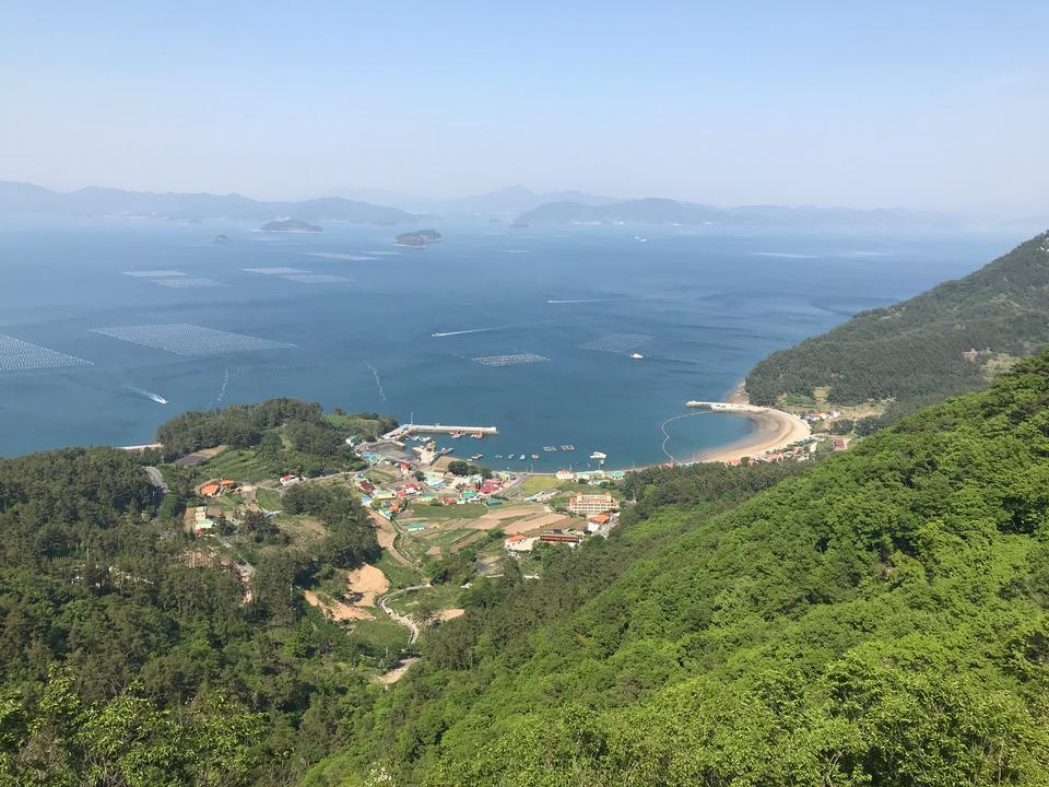 鳥瞰Saryangdo統營島韓國