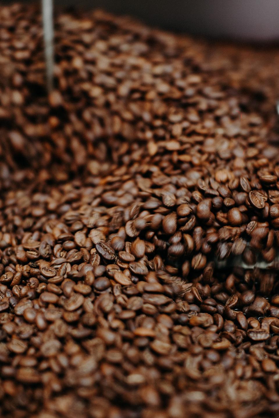 烤咖啡豆背景