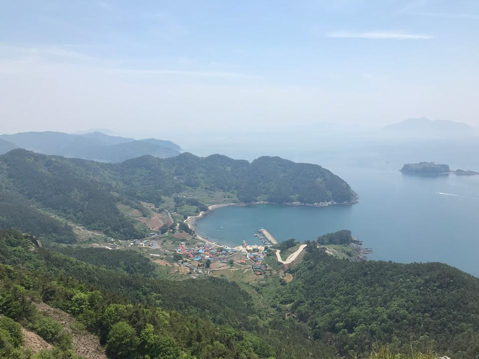 aerial view Saryangdo Tongyeong Island South Korea