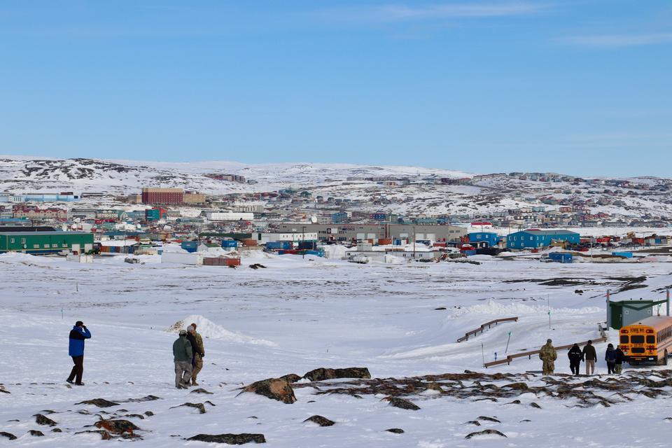 Icy Shore in Iqaluit, Nunavut Canada