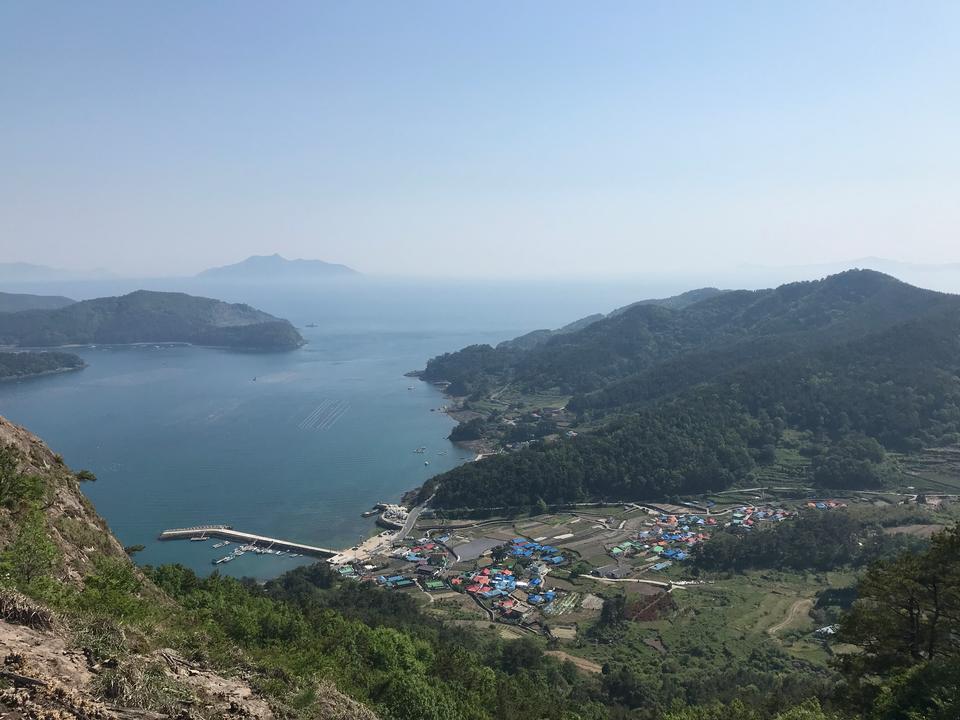 鸟瞰Saryangdo统营岛韩国