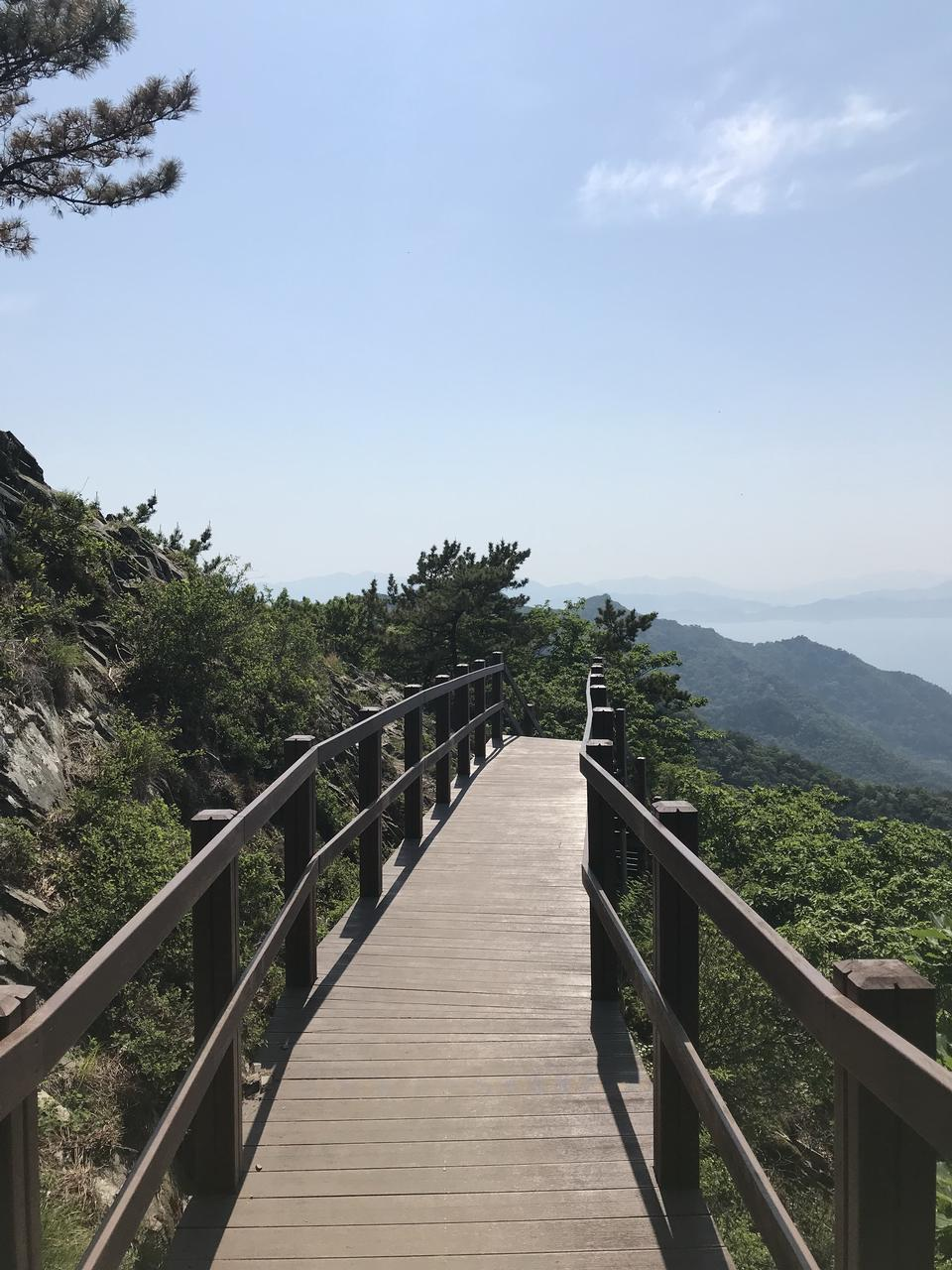Wooden Bridge Saryangdo Tongyeong Island South Korea