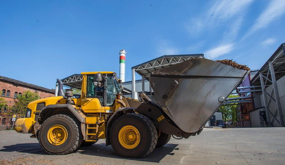 Heavy yellow bulldozer