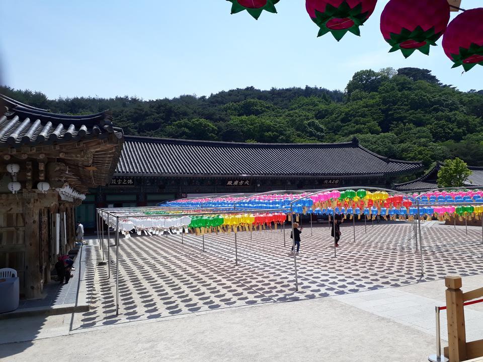 Lanterna Tongdosa Temple Yangsan Corea del sud