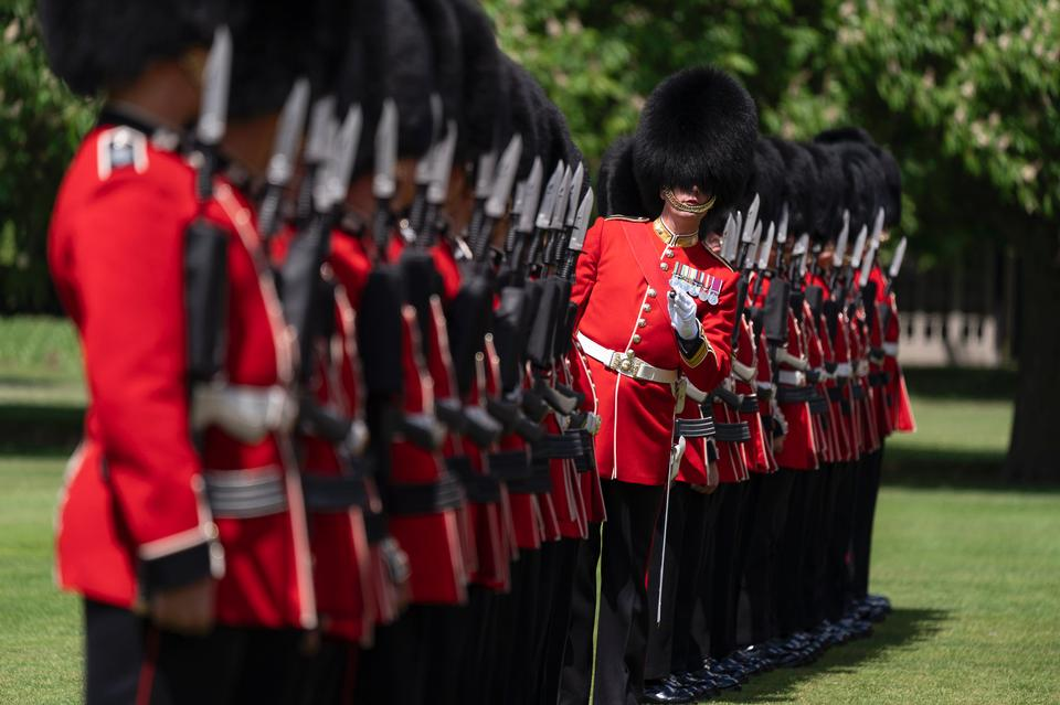 The Grenadier Guards at the palace in London