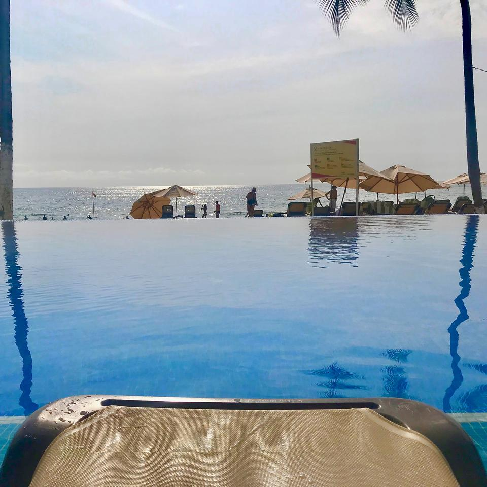 Poolside in Mexico