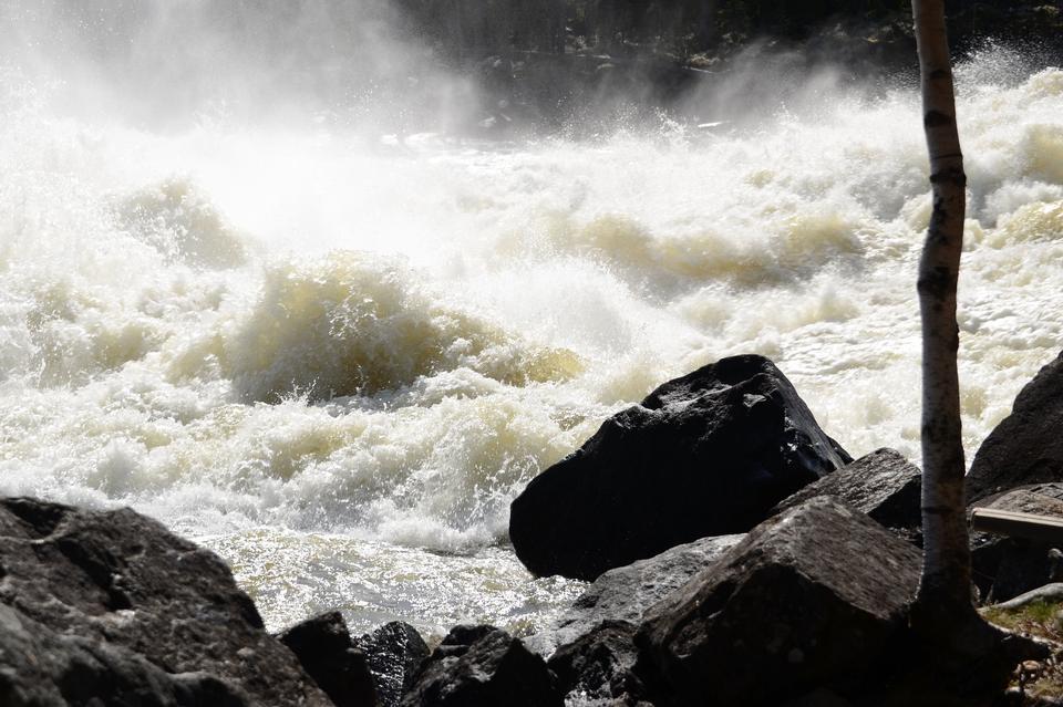 Pita River rapids in Storforsen