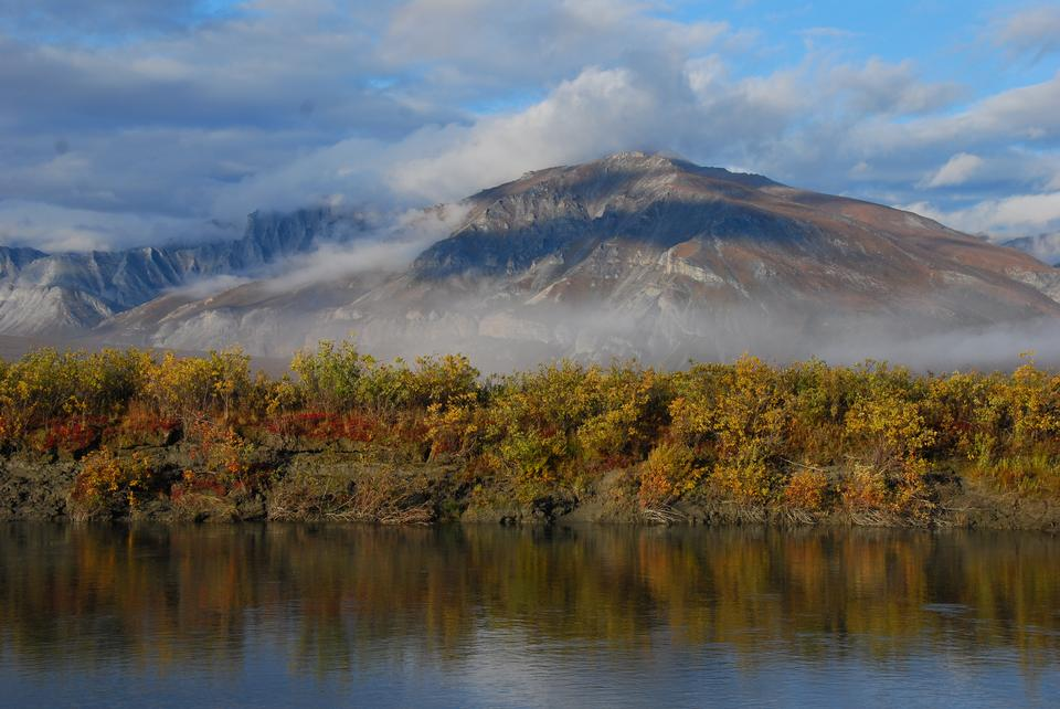 Early morning mist along the Noatak River