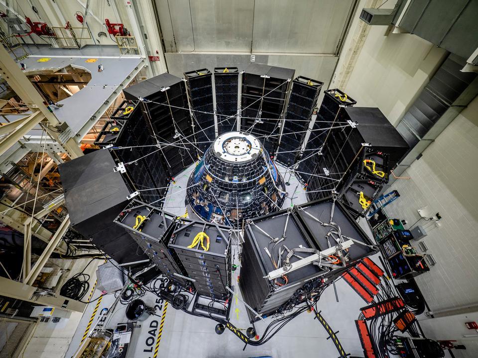 Il modulo dell'equipaggio Orion è sottoposto a test