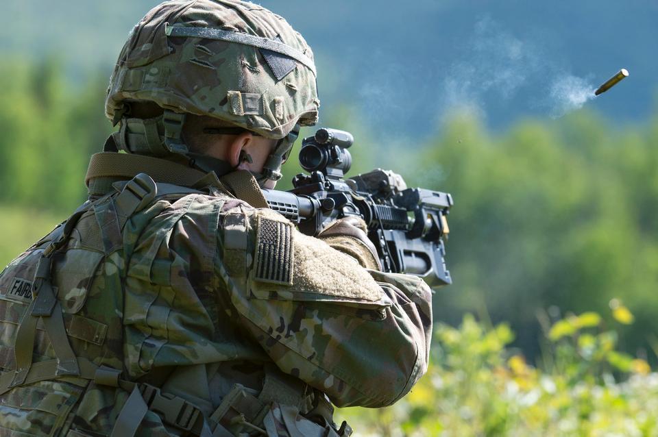 Пожарная тренировка армии США