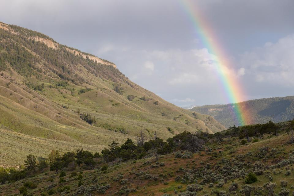 rainbow and Mt. Everts