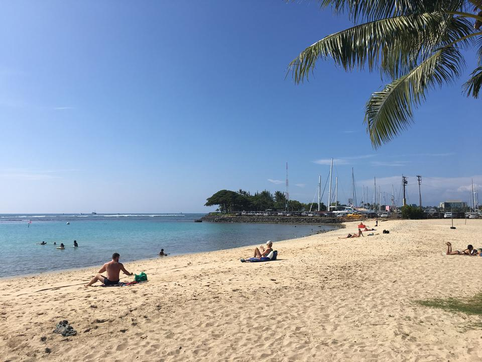 Waikiki Beach and Diamond Head Crater
