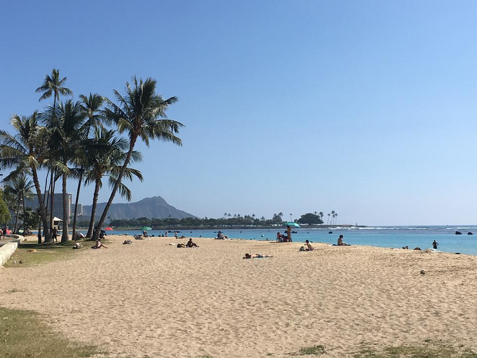 Waikiki Beach and Diamond Head Crater