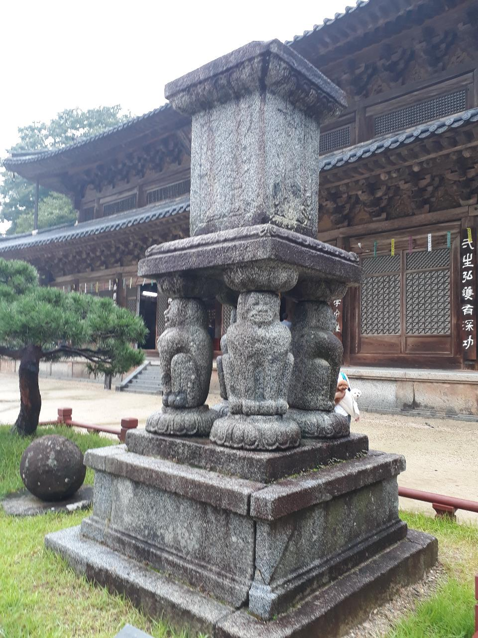 Stone lantern Hwaeomsa head temple in Gurye South Korea
