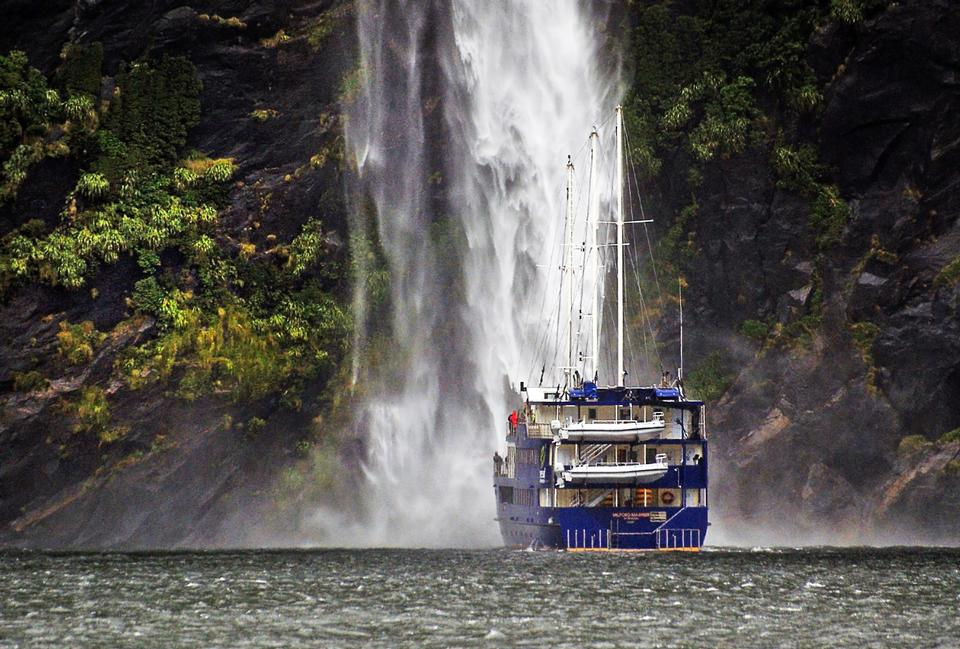 Cruising Milford Sound Fiordland National Park New Zealand