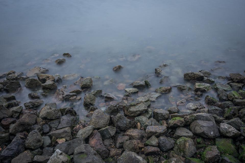 Rocks by the Sea Shore