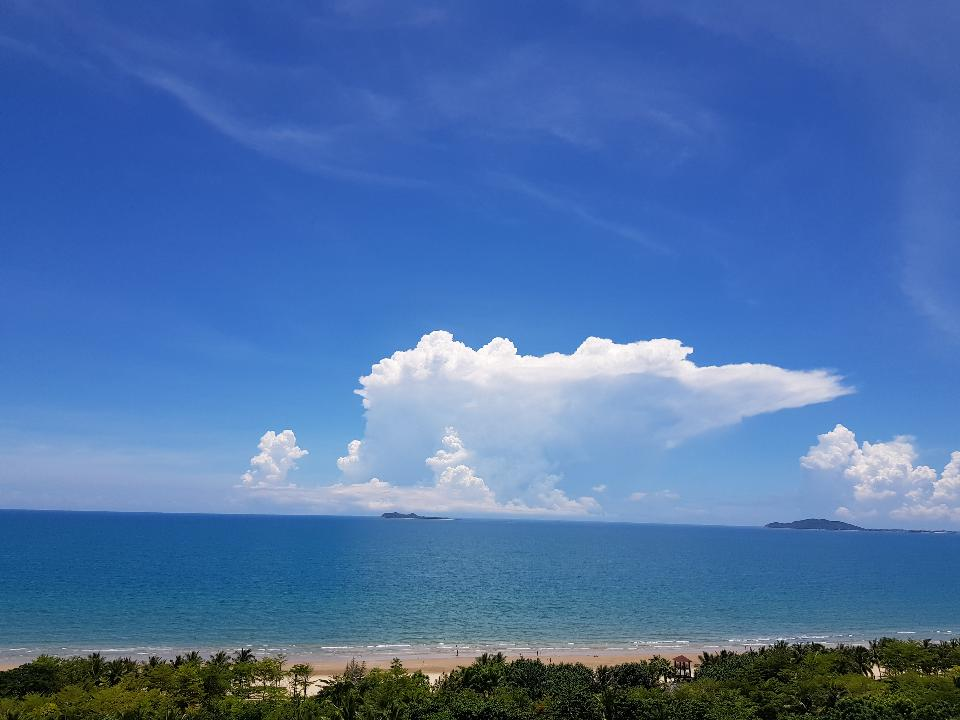 China Hainan Nanwan Monkey Island Colorful Beach