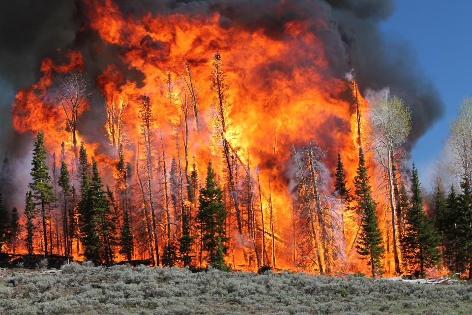 火焰和煙霧從南門羅升起