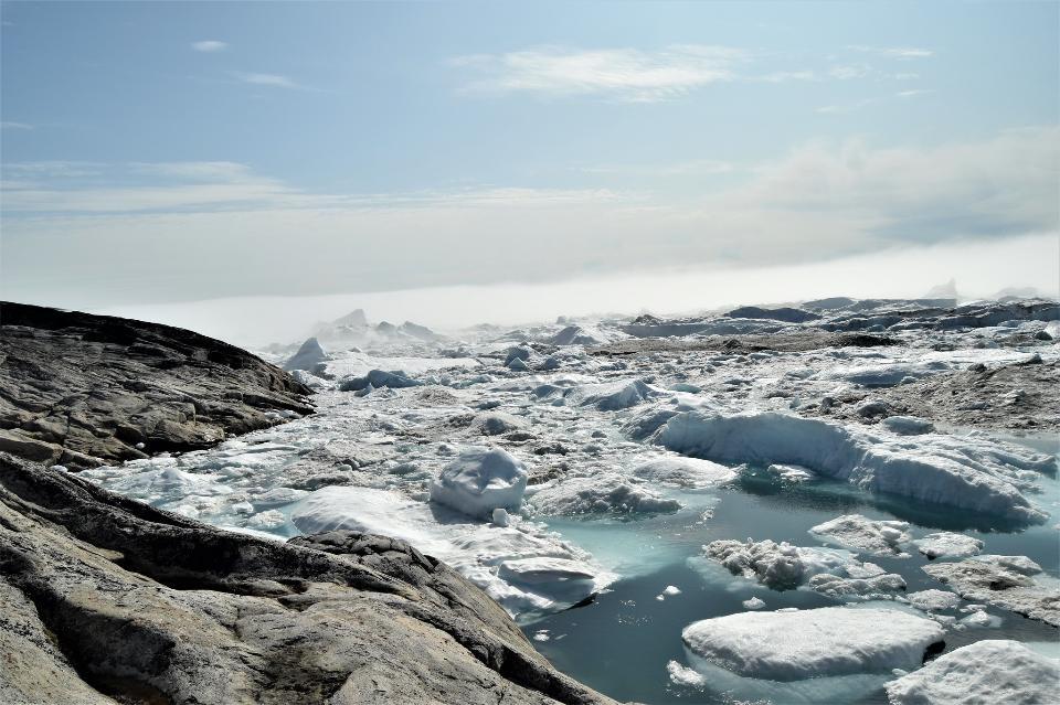 Greenland. Ilulissat. Ice field