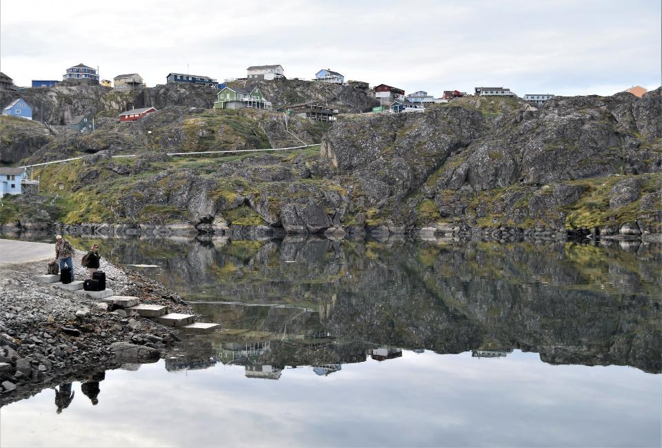 Quiet misty morning in Sisimiut, West Greenland