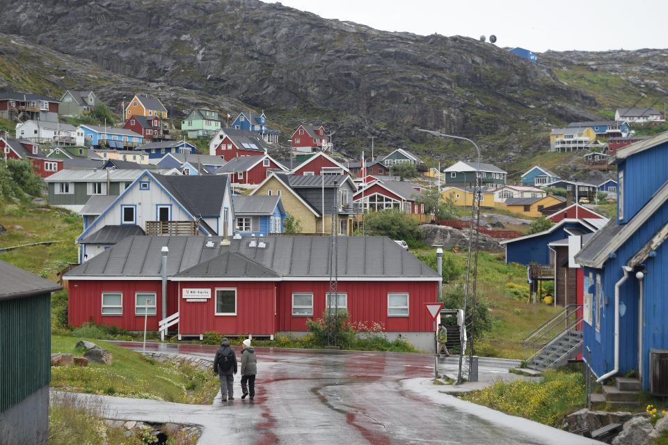 beautiful village in Greenland. Qaqortoq