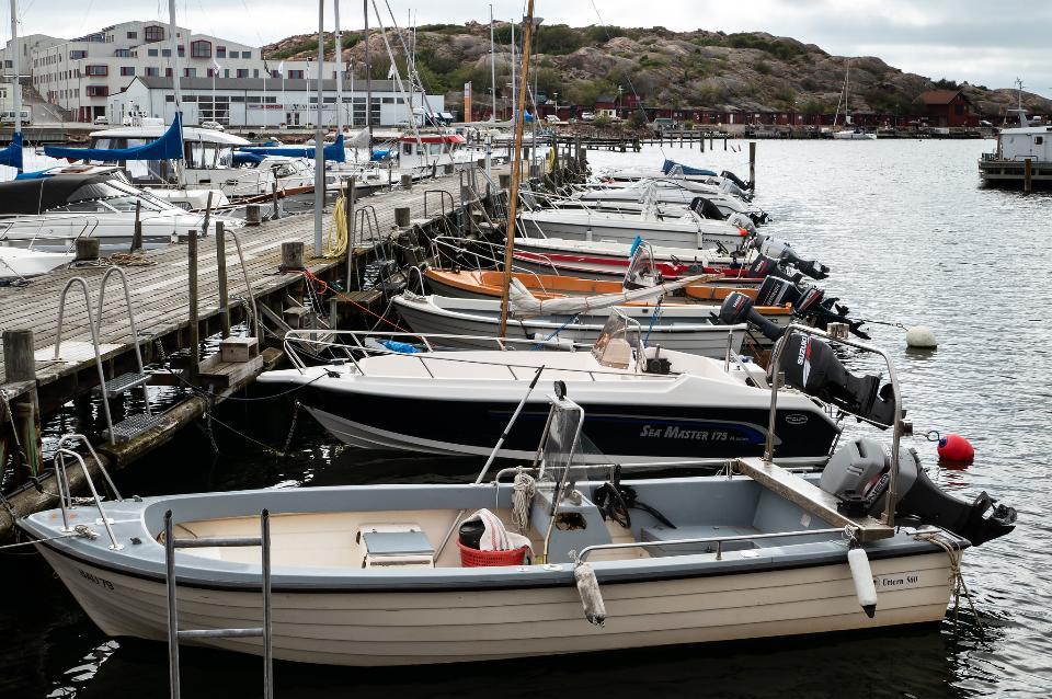 motorboats in Norra Hamnen, Lysekil