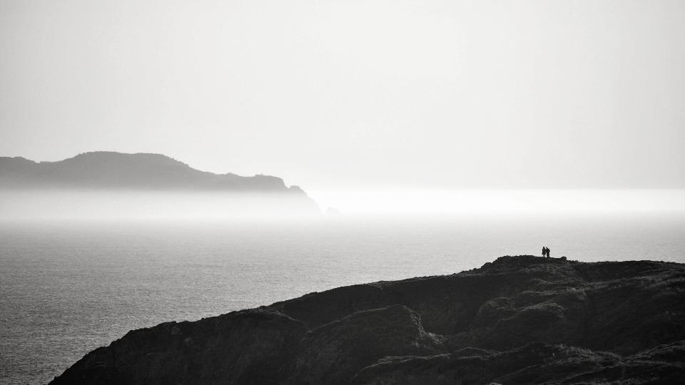 Bella vista sul mare a lunga esposizione