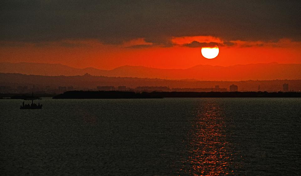 Beautiful colorful sunrise