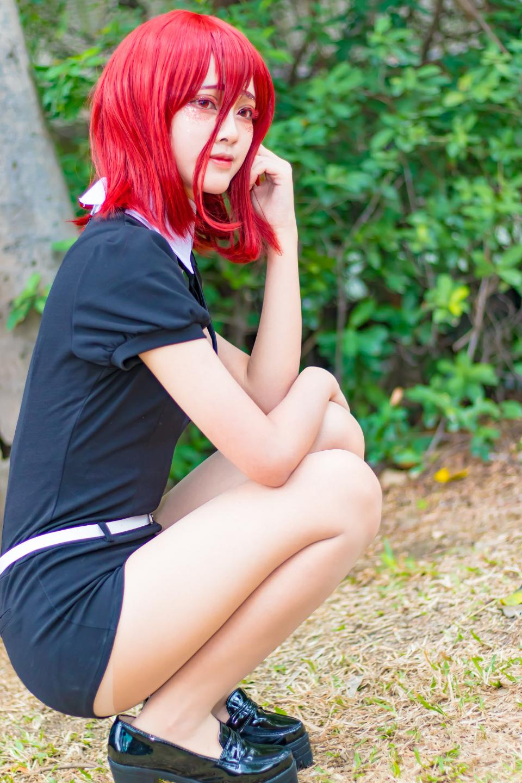Cute Asian cosplayers dress up as Japanese Manga characters