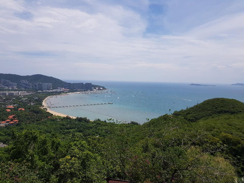 Panorama of the city from the park Luhuitou. Sanya, Hainan, China