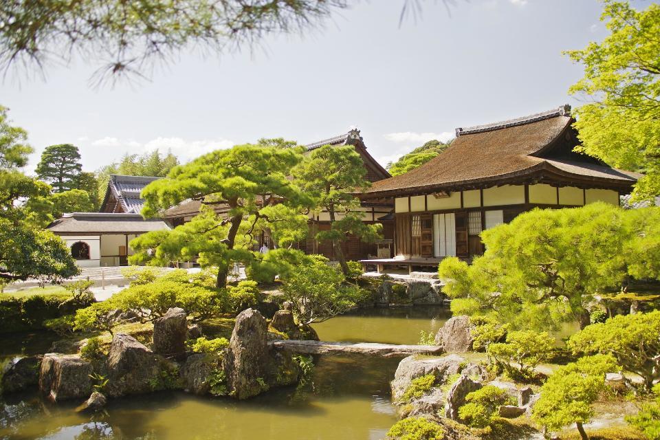 Ginkaku-ji Silver Pavilion's Courtyard In Kyoto