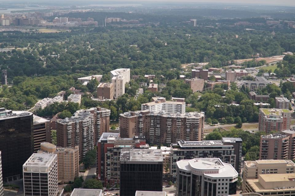 An aerial view of Arlington County