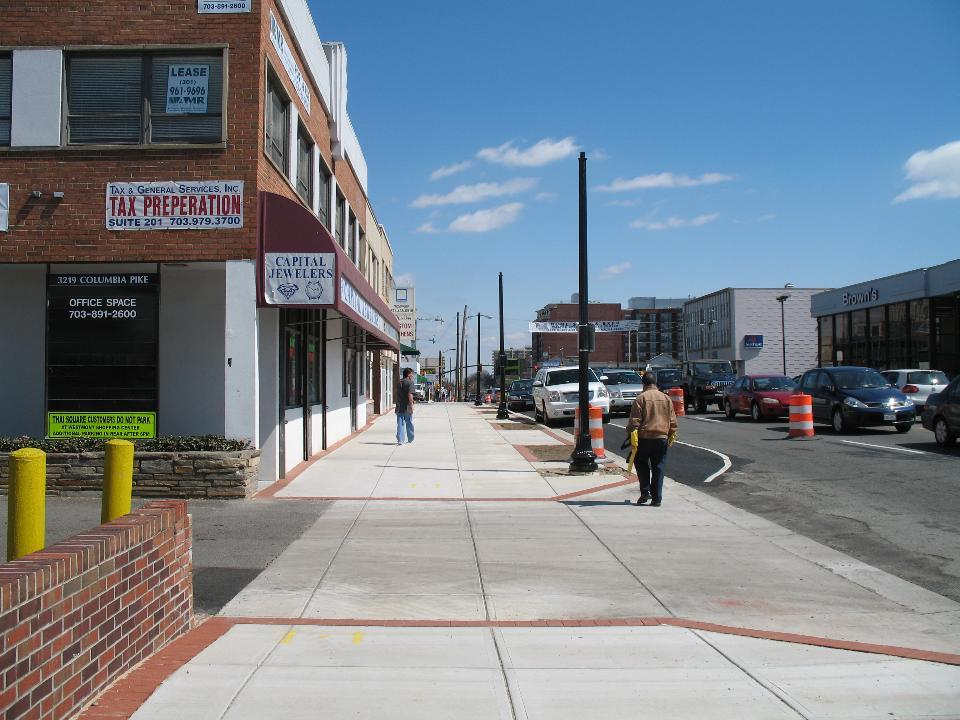 Streetscape in Arlington County