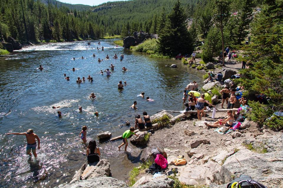 Firehole Swimming Area in Yellowstone National Park