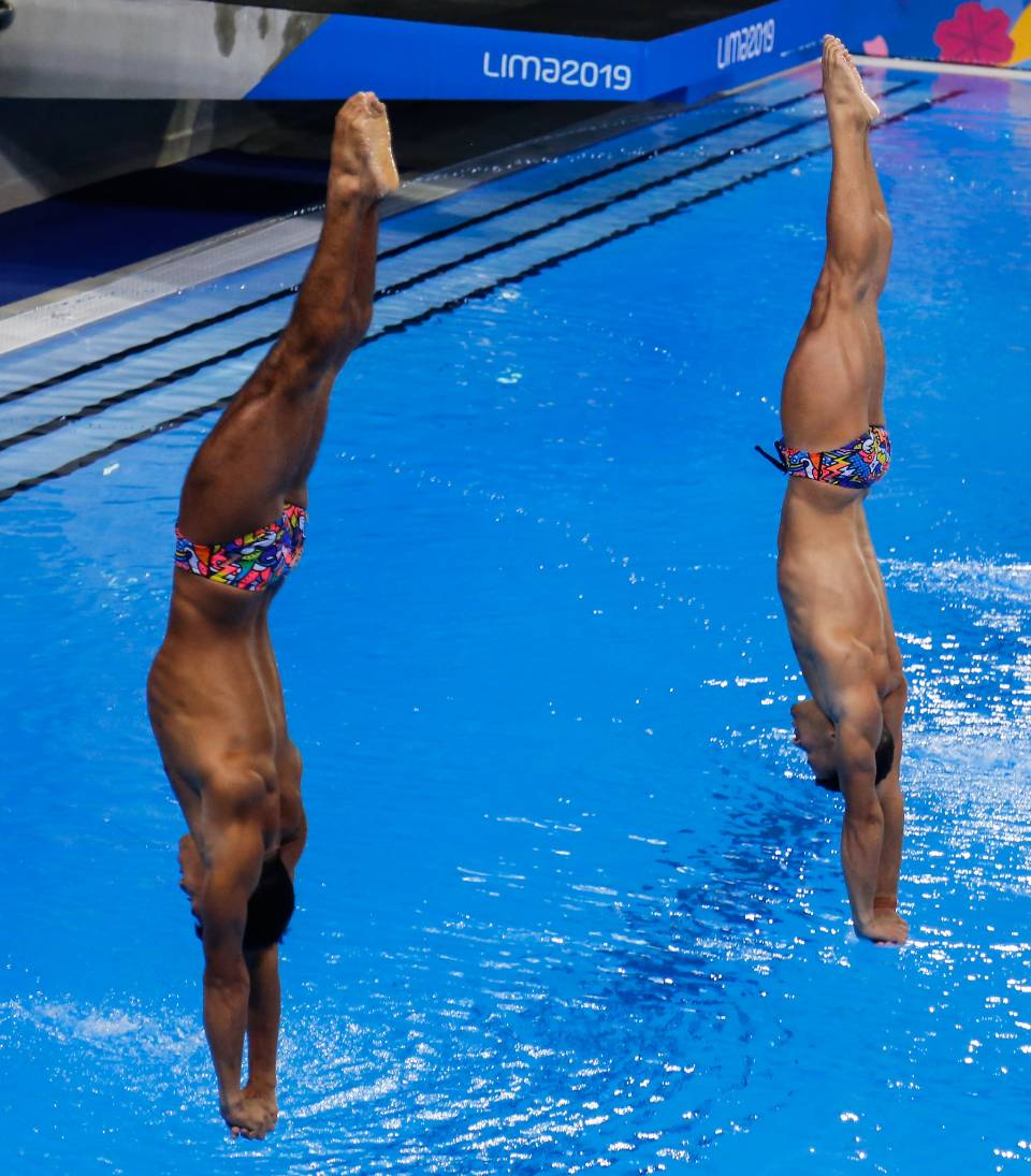 Participant of the spring-board diving championship