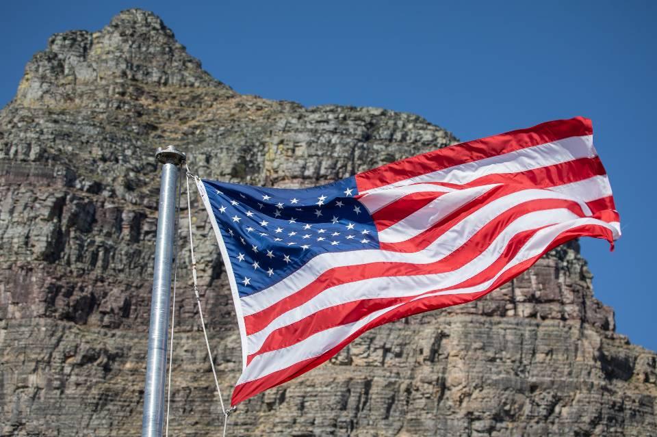 American Flag at Logan Pass