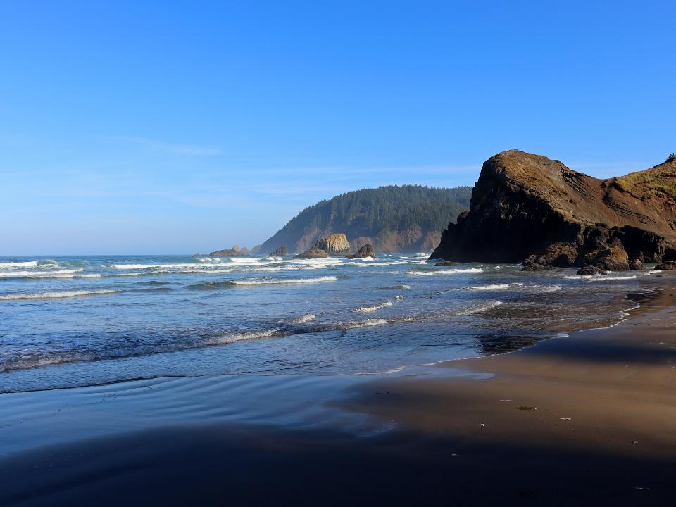 在俄勒岡州太平洋海岸的Ecola點