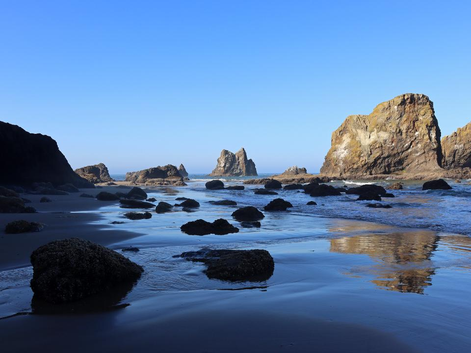 Ecola Point at Pacific Coast in Oregon
