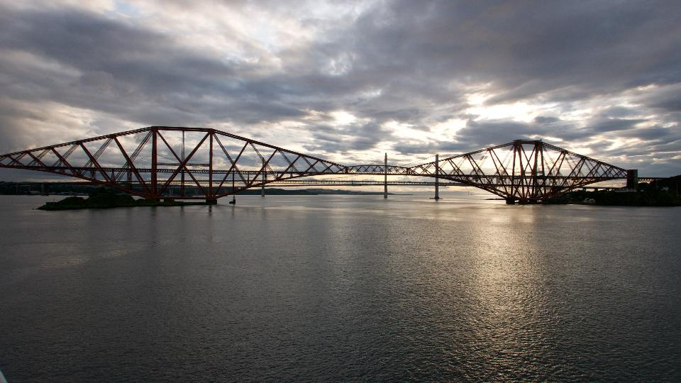 Forth bridges at sunset