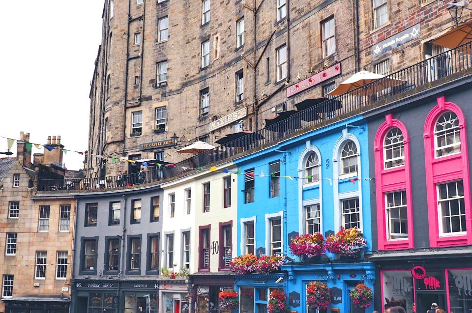 Colorful buildings in Victoria Street in Old Town