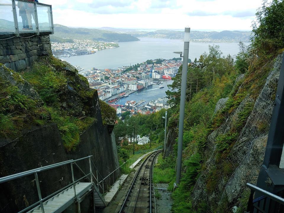 都市の景観ベルゲンノルウェー