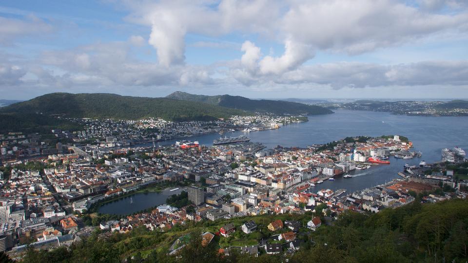 Cityscape Bergen Norway