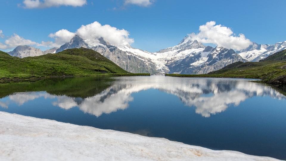 Bachalpsee Lake in Switzerland