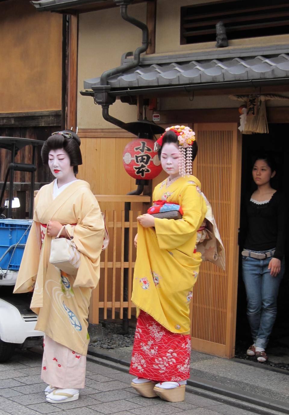 Apprentice geisha in western Japan, especially Kyoto
