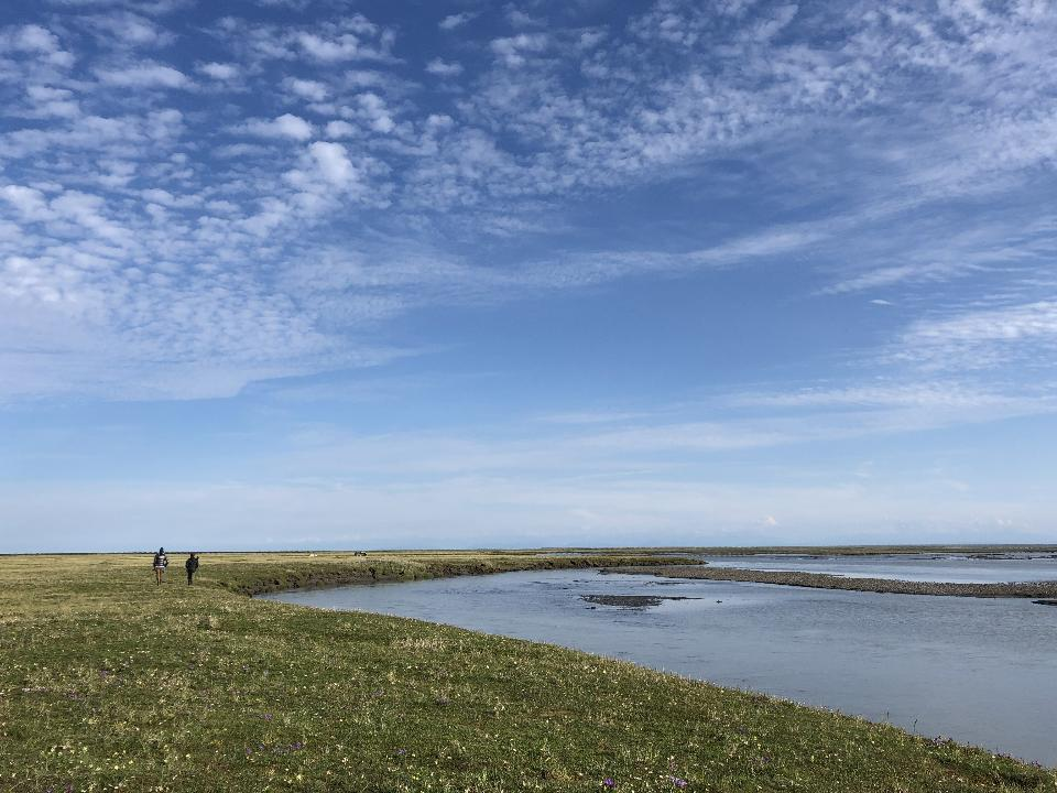 Hiking in Arctic National Wildlife Refuge