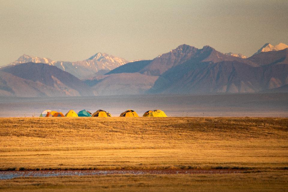 Accampandosi in Arctic National Wildlife Refuge