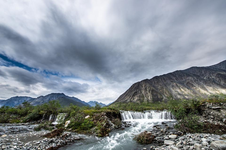 Waterfall in Arctic National Wildlife Refuge