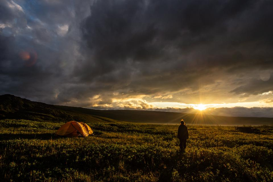Camping in Arctic National Wildlife Refuge